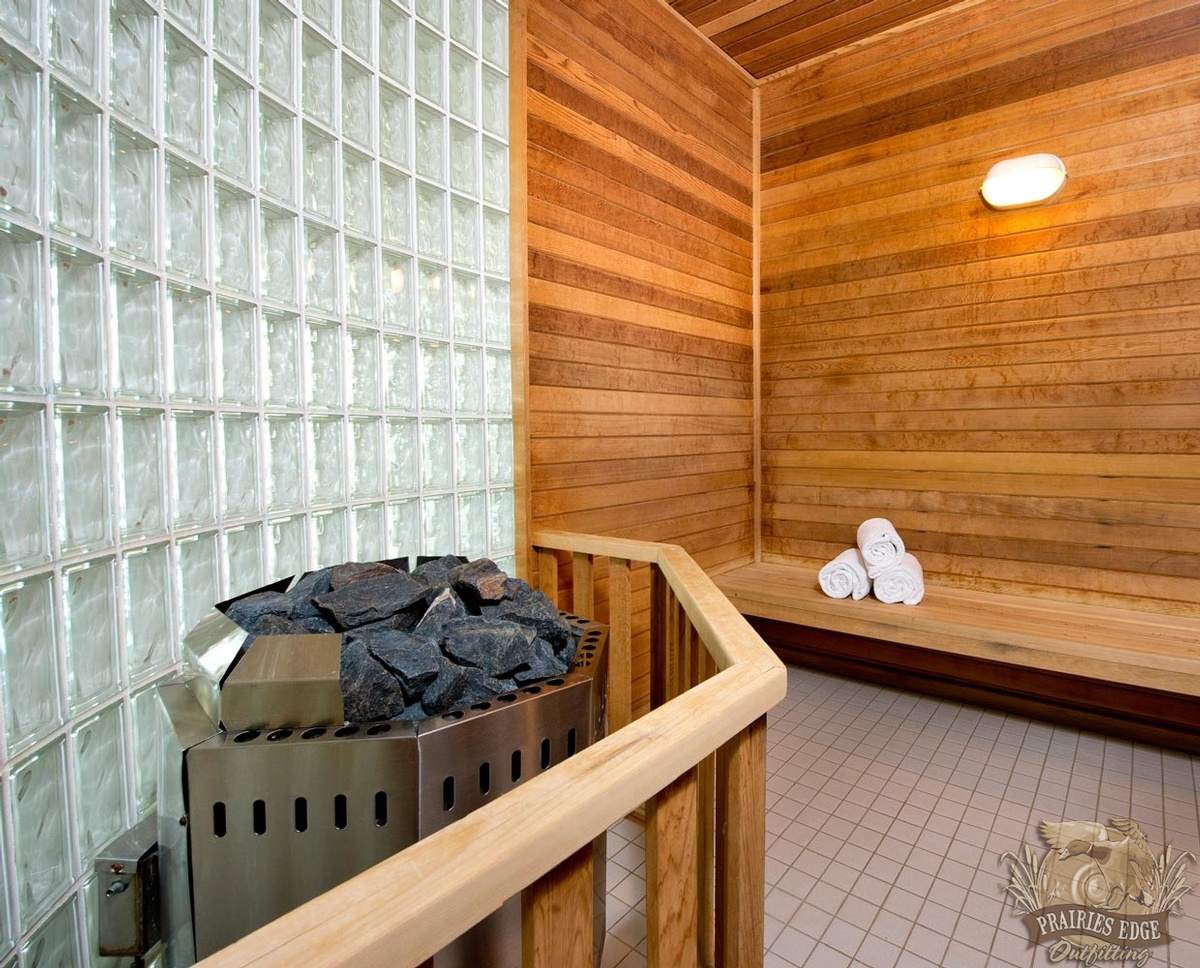 Lodge Sauna in Canada